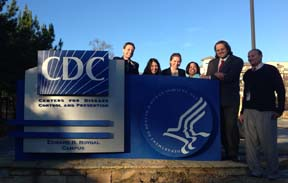 CDC site visit - CDC sign