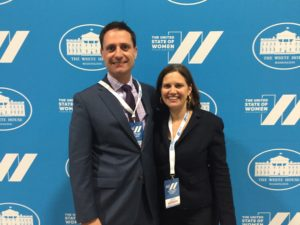 HNMCP Director Prof. Bob Bordone and HNMCP Asst. Director Rachel Viscomi at the United State of Women Summit